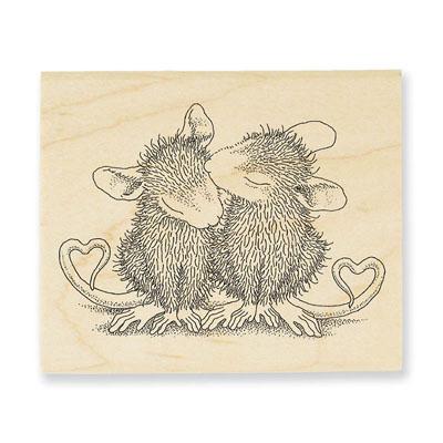 Valentine Kiss - House-Mouse Rubber Stamp
