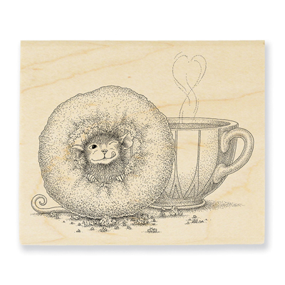 Donut Day Rubber Stamp - House-Mouse Rubber Stamp