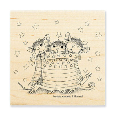 STAR SPANGLED MICE - House-Mouse Rubber Stamp