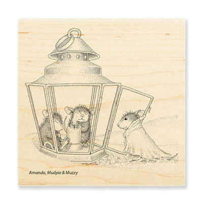 LANTERN WARMTH - House-Mouse Rubber Stamp