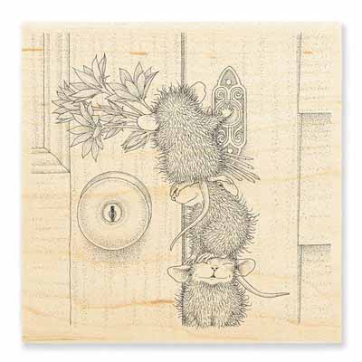 DOORBELL RINGERS - House-Mouse Rubber Stamp
