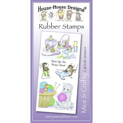Cat Knit - House-Mouse Rubber Stamp