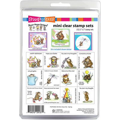 House-Mouse Spring Mini Clear - House-Mouse Rubber Stamp