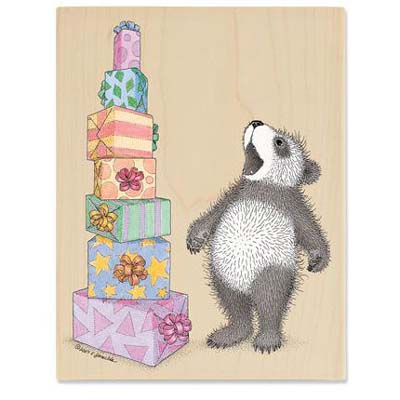 Gruffies - Tower of Presents - House-Mouse Rubber Stamp