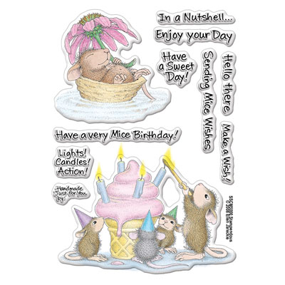 Clear Stamp Set Mice Wishes - House-Mouse Rubber Stamp