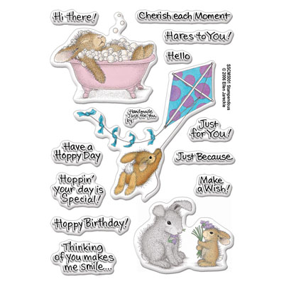 Clear Stamp Set Hoppy Moments - House-Mouse Rubber Stamp